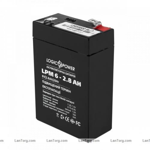 Фото Аккумуляторы для ИБП (UPS) LogicPower LPМ 6V 2.8Ah
