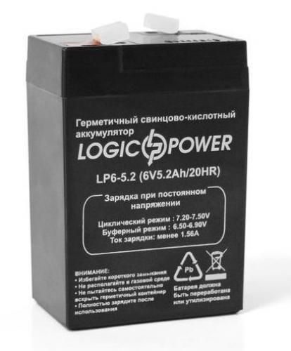 Фото Аккумуляторы для ИБП (UPS) LogicPower LP LP 6V 5.2Ah