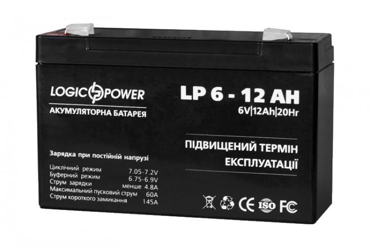 Фото Аккумуляторы для ИБП (UPS) LogicPower LP LP 6-12 6V 12Ah