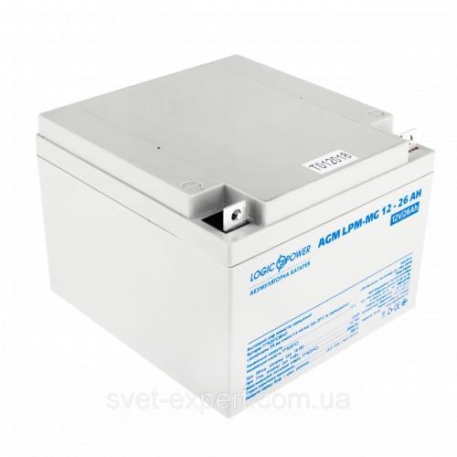 Фото Аккумуляторы для ИБП (UPS) LogicPower LP мультигелевый AGM LPM-MG 12-26