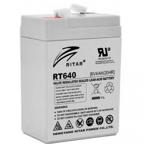 Фото Аккумуляторы для ИБП (UPS) Ritar AGM RITAR RT640 6V 4Ah