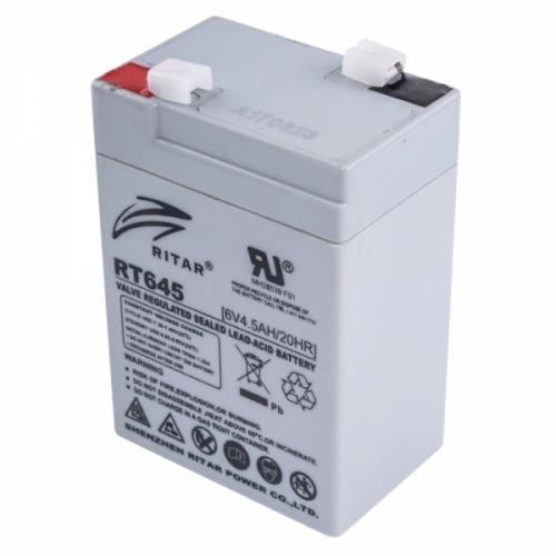 Фото Аккумуляторы для ИБП (UPS) Ritar AGM RITAR RT645 6V 4.5Ah