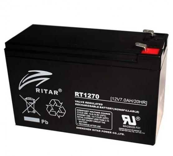 Фото Аккумуляторы для ИБП (UPS) Ritar AGM RITAR RT1270B 12V 7Ah