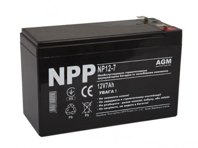 Фото Аккумуляторы для ИБП (UPS) NPP NP12-7