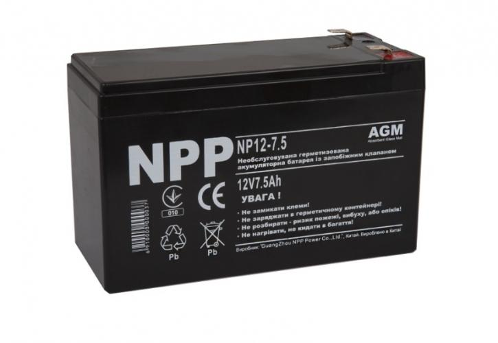 Фото Аккумуляторы для ИБП (UPS) NPP NP12-7.5