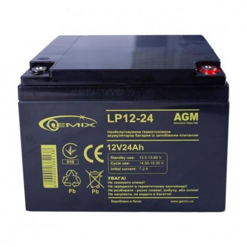 Фото Аккумуляторы для ИБП (UPS) Gemix LP12-24