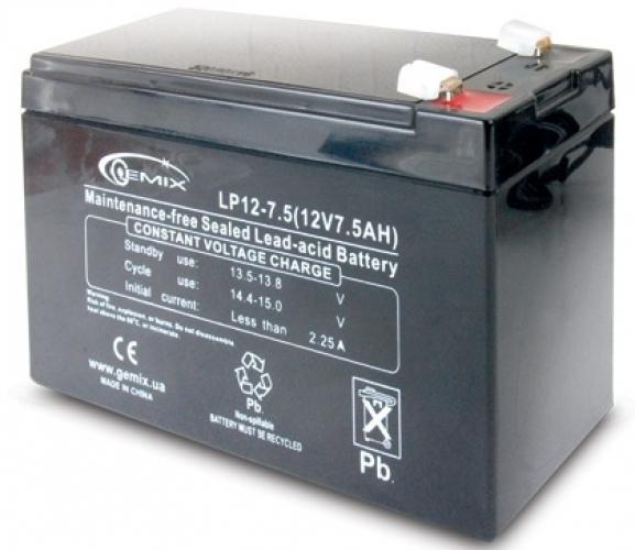 Фото Аккумуляторы для ИБП (UPS) Gemix LP12-7.5