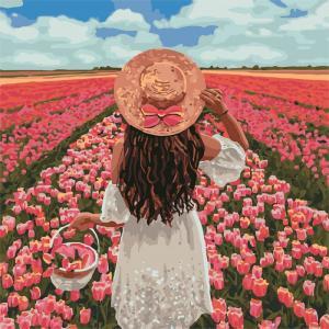 Фото Картины на холсте по номерам, Романтические картины. Люди KH 4731 Безграничная красота Роспись по номерам на холсте 40х40см
