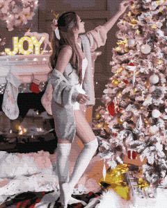 Фото Картины на холсте по номерам, Картины  в пакете (без коробки) 50х40см; 40х40см; 40х30см, Романтические картины. Люди. GX 38401 Подготовка к Новому году Картина по номерам на холсте 40х50см, без коробки