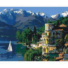 Фото Картины на холсте по номерам, Городской пейзаж Картина по номерам в коробке Идейка Вдохновляющая Италия  40х50см (KH 3511)