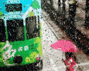Фото Картины на холсте по номерам, Городской пейзаж Картина по номерам в коробке Babylon Дождливый день  40х50см (VP 954)