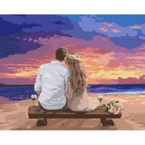 Фото Картины на холсте по номерам, Романтические картины. Люди KH 4740 Люби меня Картина по номерам на холсте 50х40см
