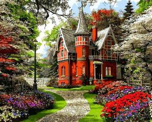 Фото Картины на холсте по номерам, Загородный дом Картина по номерам Babylon Викторианский дом картина по номерам VP 1283   40х50см  в коробке
