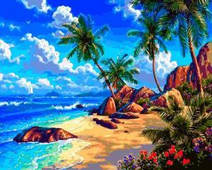 Фото Картины на холсте по номерам, Морской пейзаж Картина по номерам Babylon  Морской берег VP 1293 40х50см в коробке