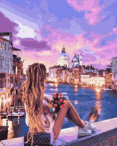 Фото Картины на холсте по номерам, Романтические картины. Люди KGX 30405 У края воды Картина по номерам на холсте 40х50см