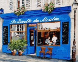 Фото Картины на холсте по номерам, Городской пейзаж Картина по номерам в коробке Paintboy  Французское кафе  40х50см (KGX35840)