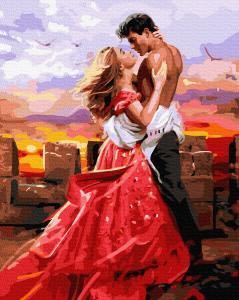 Фото Картины на холсте по номерам, Романтические картины. Люди KGX36106 Любовь  Картина  по номерам на холсте 40х50см