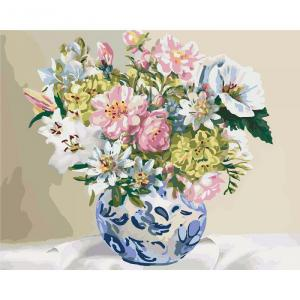Фото Картины на холсте по номерам, Картины  в пакете (без коробки) 50х40см; 40х40см; 40х30см, Цветы, букеты, натюрморты KHO 3005