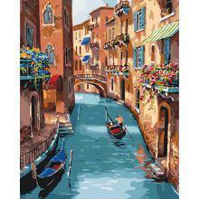 Фото Картины на холсте по номерам, Городской пейзаж Картина по номерам в коробке Идейка Солнечная Венеция 40х50см (KH 2153)