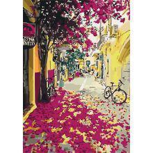 Фото Картины на холсте по номерам, Городской пейзаж Картина по номерам в коробке Идейка Красочная Греция 35х50см (KH 3509)