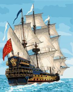 Фото Картины на холсте по номерам, Морской пейзаж Картина по номерам Идейка  Королевский флот KH 2729  40х50см в коробке