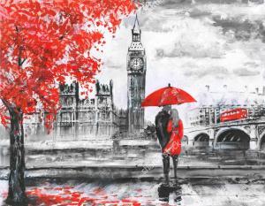 Фото Картины на холсте по номерам, Городской пейзаж Картина по номерам в коробке ArtStory Прогулка по Лондону  40x50см (AS 0145)