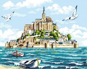 Фото Картины на холсте по номерам, Картины  в пакете (без коробки) 50х40см; 40х40см; 40х30см, Пейзаж, морской пейзаж. GX 24068
