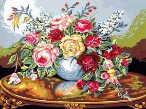 Фото Картины на холсте по номерам, Букеты, Цветы, Натюрморты VK 085
