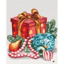 Фото Картины на холсте по номерам, Зима! Новый Год! Рождество! Картина по номерам в коробке Идейка Аромат праздника 40х50см (KH 5533)