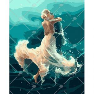 Фото Картины на холсте по номерам, Романтические картины. Люди KH 4566 На волне танца Роспись по номерам на холсте 40х50см