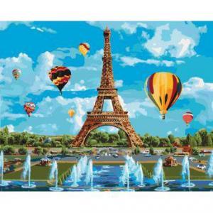 Фото Картины на холсте по номерам, Городской пейзаж Картина по номерам в коробке Идейка Город любви  40х50см (KH 2179)