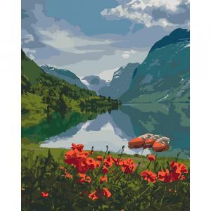 Фото Наборы для вышивания, Вышивка крестом с нанесенной схемой на конву, Пейзаж KH 2256 Красота Норвегии  Роспись по номерам на холсте 40х50см