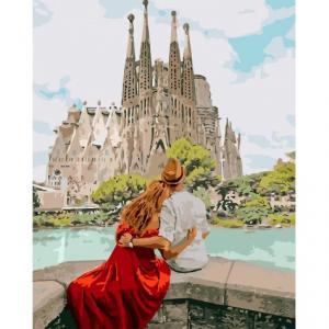 Фото Картины на холсте по номерам, Романтические картины. Люди KH 4689 Романтическая Испания Картина по номерам на холсте 40х50см