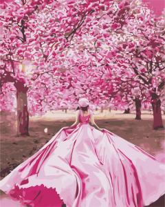 Фото Картины на холсте по номерам, Романтические картины. Люди AS 0899 Девушка в саду Картина по номерам на холсте Art Story 40x50см