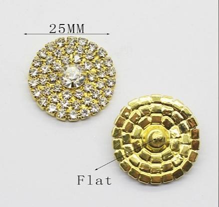 Фото Серединки ,кабашоны, Серединки с жемчугом и стразами Металическая золотая серединка  25 мм. с Белыми стразами .
