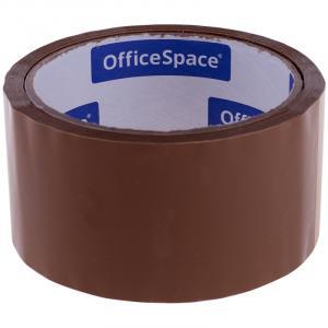 Фото Канцелярские товары (ЦЕНЫ БЕЗ НДС), Клейкая лента (Скотч)  Клейкая лента упаковочная OfficeSpace, 48мм*40м, 38мкм, темная