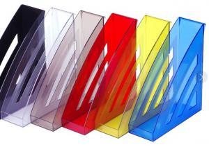 Фото Канцелярские товары (ЦЕНЫ БЕЗ НДС), Лотки для бумаг, Лотки вертикальные настольные, настенные Модуль вертикальный CITY ассорти, цвета см. подробнее