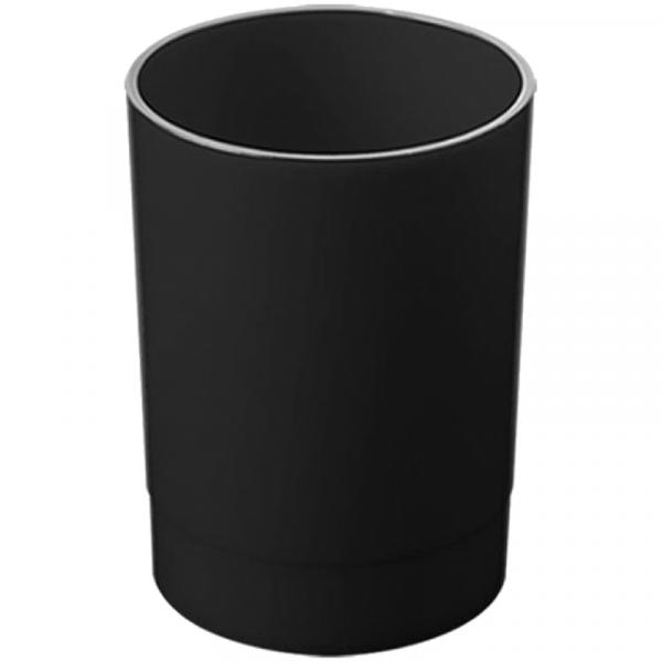"""Подставка-стакан Стамм """"Офис"""", пластик, круглый, черный"""