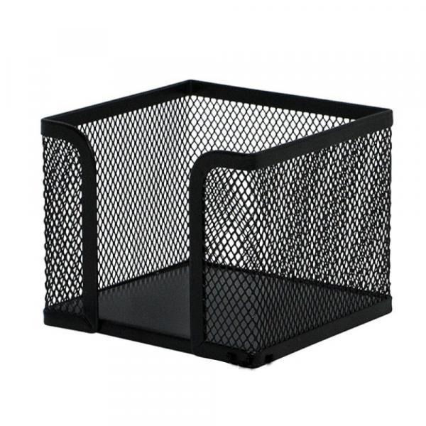 Бокс для бумаги для заметок Q-Connect черная сетка