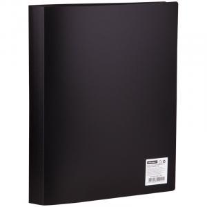 Фото Папки, файлы, планшеты, портфели, сумки (ЦЕНЫ БЕЗ НДС), Папки с файлами Папка с 40 вкладышами OfficeSpace, 21мм, 400мкм, черная