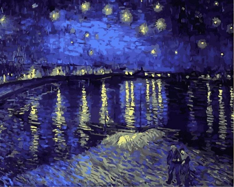 Картина по номерам в коробке Babylon Звездная ночь над Роной. Ван Гог 40х50см (VP 503)
