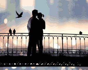 Фото Картины на холсте по номерам, Романтические картины. Люди Картина по номерам в коробке Babylon Свидание на закате 40х50см (VP 1228)