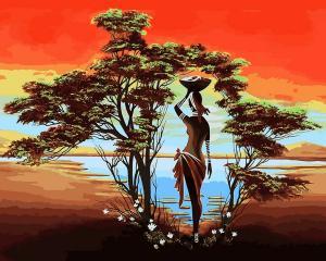 Фото Картины на холсте по номерам, Романтические картины. Люди Картина по номерам в коробке Babylon Оазис 40х50см (VP 1232)