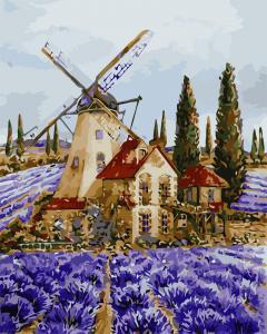 Фото Наборы для вышивания, Вышивка крестом с нанесенной схемой на конву, Пейзаж AS 0704 Где-то в Провансе Картина по номерам на холсте Art Story 40x50см