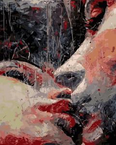 Фото Картины на холсте по номерам, Романтические картины. Люди Картина по номерам в коробке ArtStory Страстный поцелуй 40x50см (AS 0188)