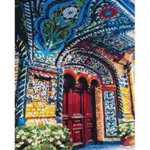 Фото Картины на холсте по номерам, Городской пейзаж Картина по номерам в коробке Идейка Загадочный магазин 2  40х50см (KH 2175)
