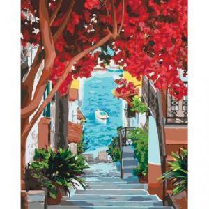 Фото Картины на холсте по номерам, Морской пейзаж Картина по номерам Идейка  В ожидании лета  KH 2199 40х50см в коробке