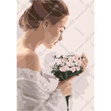 Фото Картины на холсте по номерам, Романтические картины. Люди Картина по номерам в коробке Идейка Утренняя нежность 2 40х50см (KH 3032)