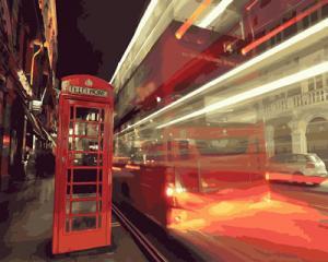 Фото Картины на холсте по номерам, Городской пейзаж Картина по номерам без коробки Paintboy Вечерний город 40х50см (GX 23681)