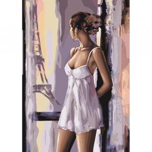 Фото Картины на холсте по номерам, Романтические картины. Люди Картина по номерам в коробке Идейка Французские мечты 35х50см (KH 4598)